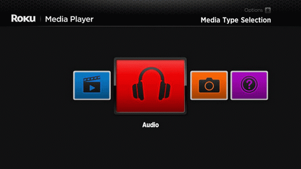 play audio files on roku