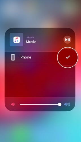 select iphone as audio output