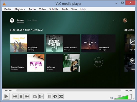 stream spotify to vlc