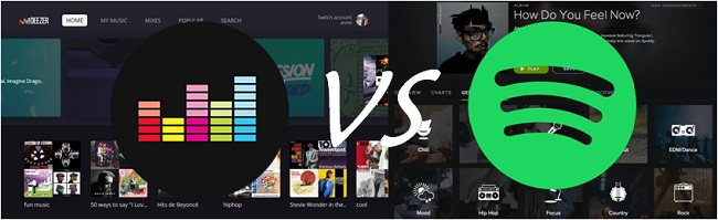 compare spotify to deezer