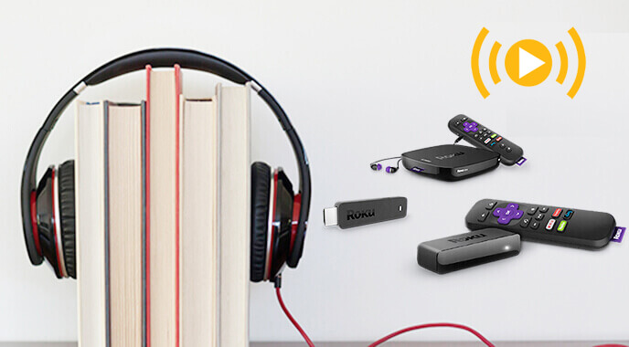 play audiobooks on roku