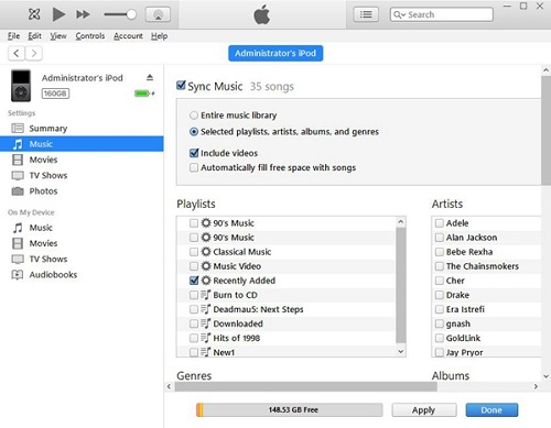 how to download music and put it in ipod 4