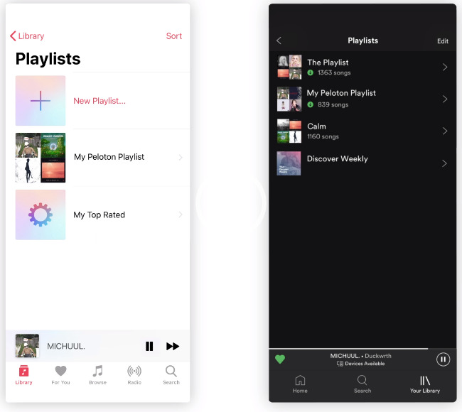 sync apple music with peloton