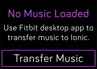 transfer files to fitbit