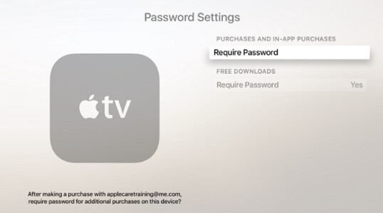 turn off password prompts