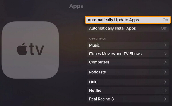 update apps on apple tv