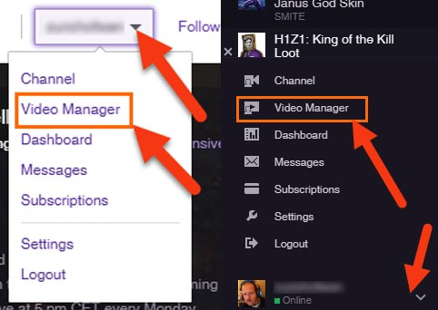video manager twitch