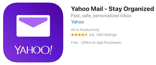 use yahoo mail app