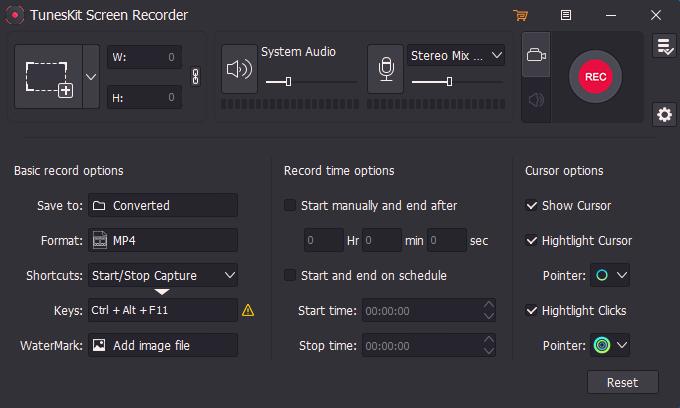 TunesKit Screen Recorder for Windows full screenshot