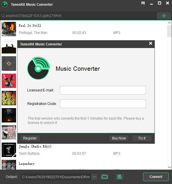 TunesKit Music Converter for Spotify for Win User Help Overview l