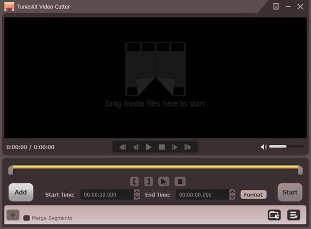 TunesKit Free Video Cutter for Windows full screenshot
