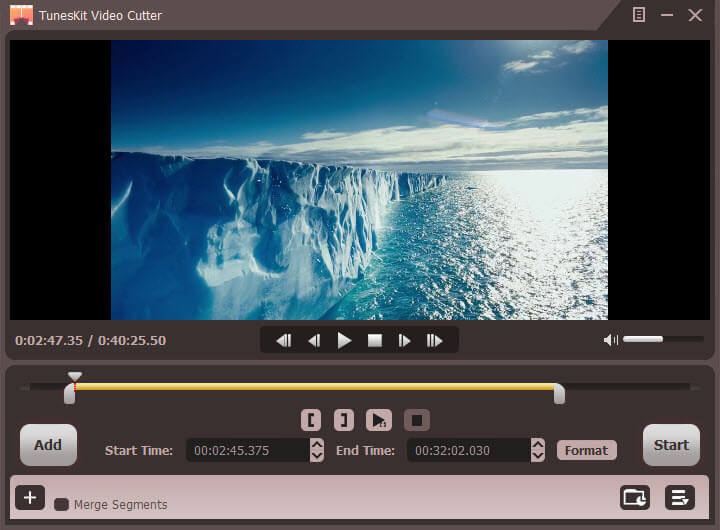 video cutter trim settings