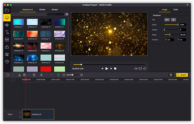 TunesKit AceMovi Video Editor for Mac full screenshot